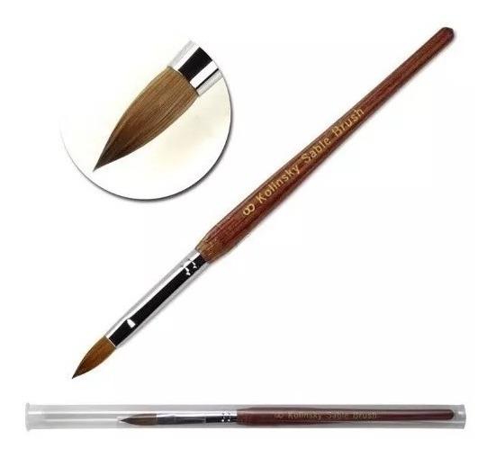 Pincel Kolinsky 100% Original Pelo De Marta Sable Brush N 8