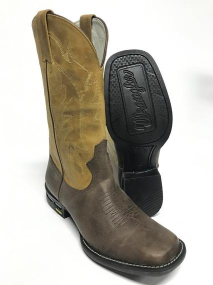 Bota Texana Masculina Wrangler Estilo Goyazes Bico Quadrado