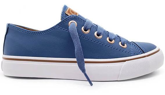 Tênis Feminino Capricho Shoes Like Class Azul Anil