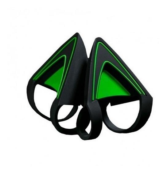 Kitty Ears Orejas Para Auriculares Razer Kraken Green - Full