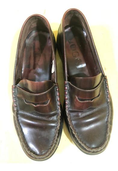 Zapatos Oggi Mocasin T: 42 Color Guinda Brush - Excelente