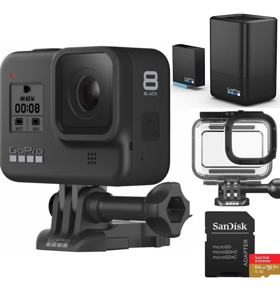 Gopro Hero 8 Black + Cartão Ext 64gb +cx Protet + Carregador