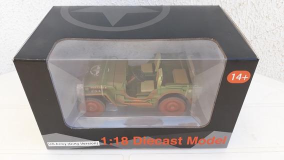 Jeep American Diorama 1/18 Gi-joe Diecast Model