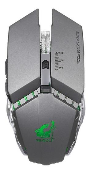 Livre Wolf Wireless Gaming Mouse Com 1600dpi Dpi Ajustvel