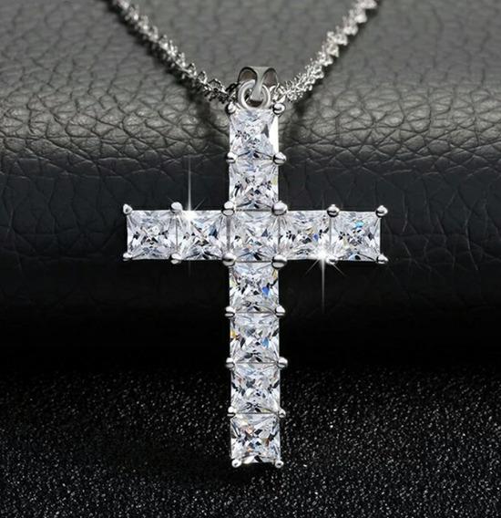 Crucifijo Lujo 11 Cristales Swarovski Elements Mujer