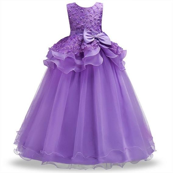 Vestido Infantil Juvenil Longo Festa Casamento Florista Dama