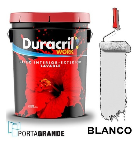 Pintura Latex Work Int/ext Duracril 20 Lts