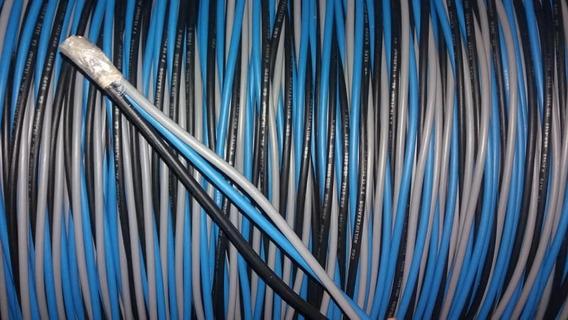 3 Vias Encapadas 50 Metros Triplex 16mm Preto Azul E Cinza