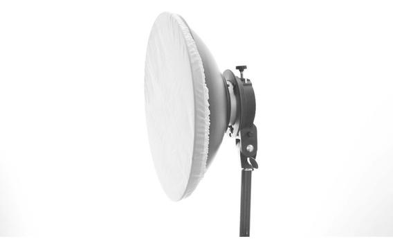 Refletor Beauty Dish 40cm Bowens Branco C/ Difusor Em Tecido
