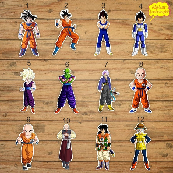 100 Tags Toppers Dragonball Z 3,5cm