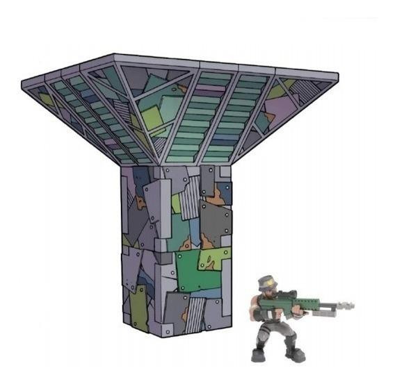 Fortnite Battle Fuerte P/armar C/fig Y Acc Int 63510 Orig