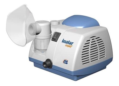 Nebulizador compressor NS Inalar Compact branco e azul 127V/220V