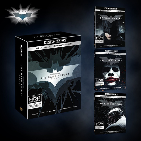 Batman The Dark Knight Trilogia 4k Uhd Hdr + Blu-ray Boxset