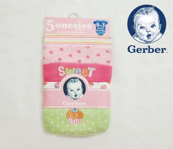 Bodys Para Bebes 0 - 3 Meses (5 Unidades) Gerber