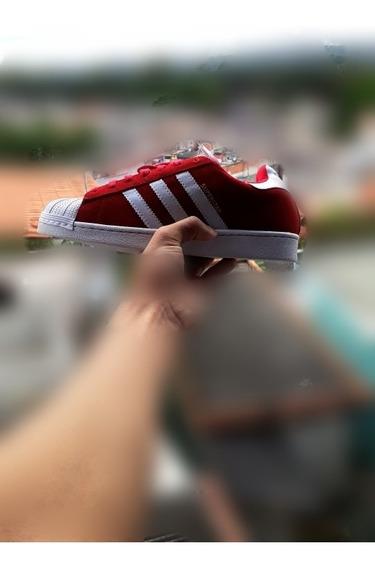 Tênis adidas Super Star - Vermelho - Frete Grátis