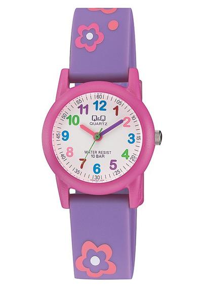 Relógio Q&q Infantil Florzinha À Prova D