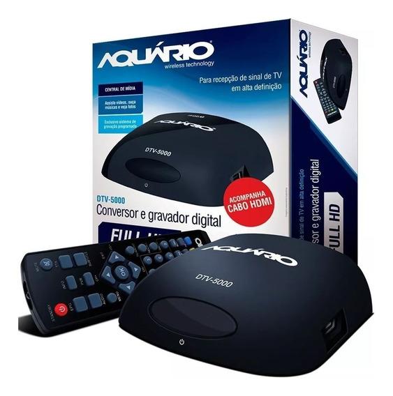 Conversor Digital Dtv 5000 Aquario Para Tv (usado)