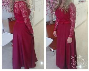 Vestido Longo Para Madrinhas Evangélicas - Vermelho