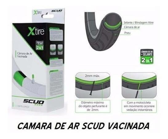 Câmara Ar Aro 18 Cg 150 Com Vacina Anti-furo Scud Xlite