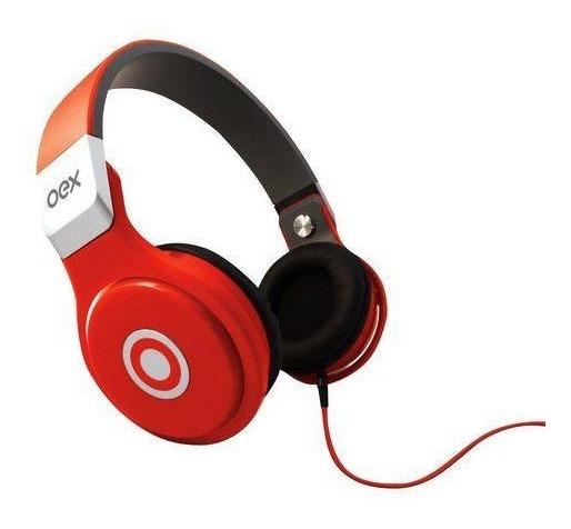 Fone De Ouvido Microfone Groove 40mm Oex Hp102 Vermelho