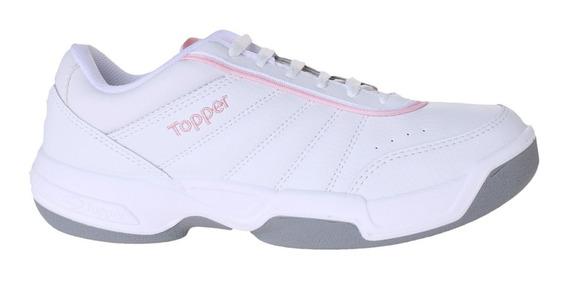 Zapatillas Topper C Tennis Tie Break Ii Kids Niña Bl/rs
