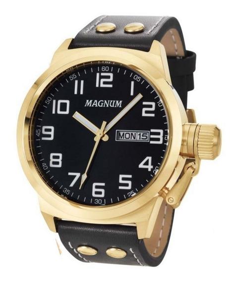 Relógio Magnum Masculino Analógico Couro Ma32756u