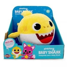 Pelúcia Musical Com Movimento Baby Shark Toyng