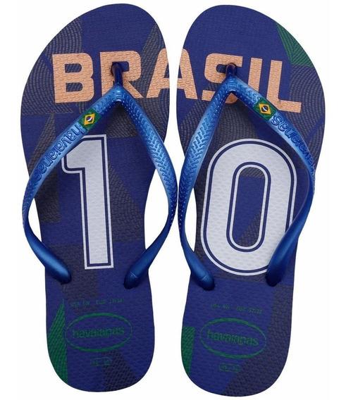 Havaianas Slim Brasil Azul Nuevas 100% Original