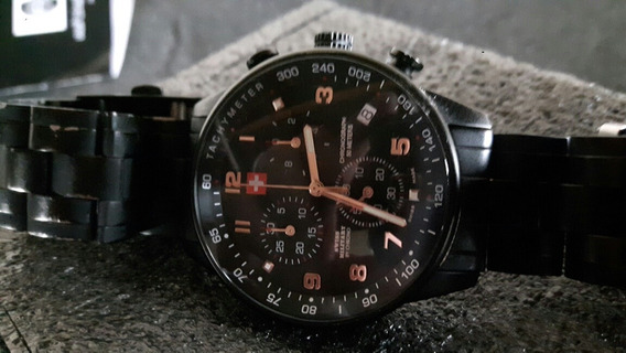 Swiss Military Chrono Tachymeter Black Pvd.
