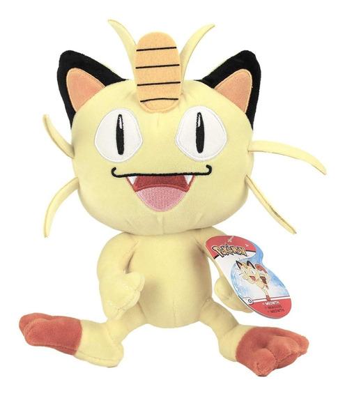 Pokemon Pelúcia Colecionável - Meowth - 20 Cm - Original Dtc