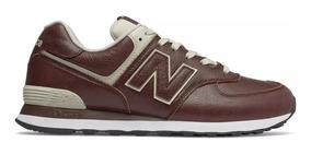 Tênis New Balance 574 Classics Couro Nb - Marrom Original