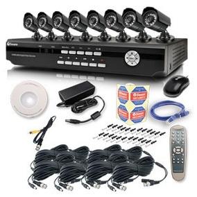 Sistema De Monitoramento/gravação De Vídeo - 8 Câmeras - Ace