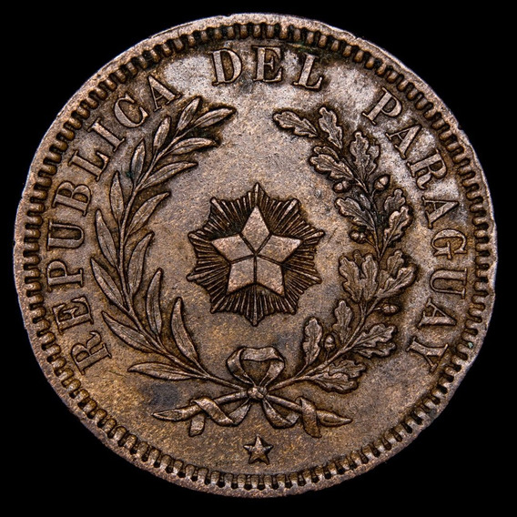 Ch C / Paraguay 2 Centesimos 1870 (birmingham) Km #3