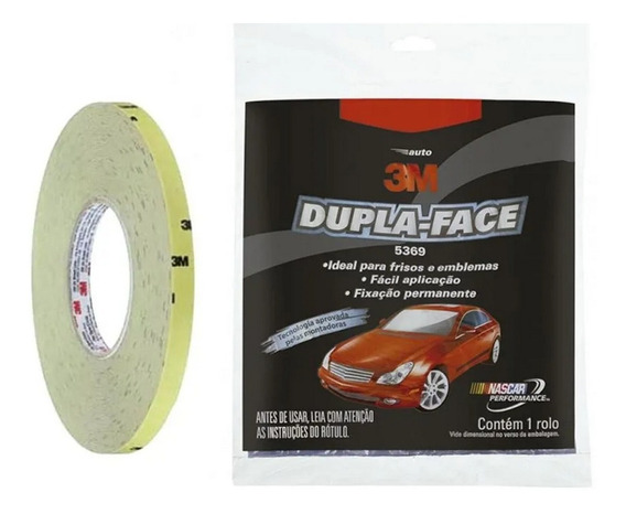 Fita Dupla-face Automotiva 3m 5369 Cinza - 9,5mm X 20m