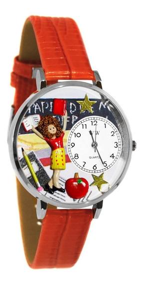 Maestra De Jardín De Infantes Reloj De Plata (grande)