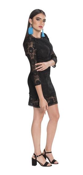 Vestidos Mujer Moda Casuales Corto Encaje Ajustado S83202