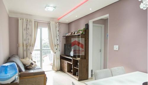 Apartamento Com 2 Dormitórios À Venda, 57 M² Por R$ 330.000,00 - Vila Trabalhista - Guarulhos/sp - Ap0553