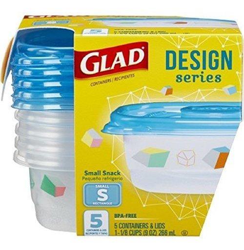 Glad Designer Series 5 Rectangular Pequeã±o 9 Oz Recipient