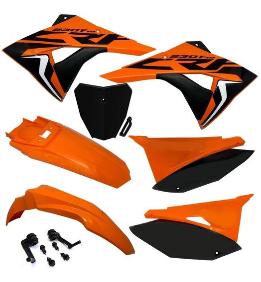 Kit Roupa Plástico Biker Next Crf 230 Number Plate Adesivos