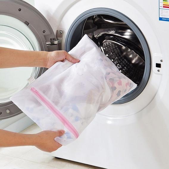 Saco Tela Protetora Pra Lavar Roupas Delicadas Com Zíper