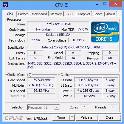 Core I5-3570 3.40ghz Turbo Max. 3.80ghz 6mb Ivy Bridge 3ªg..