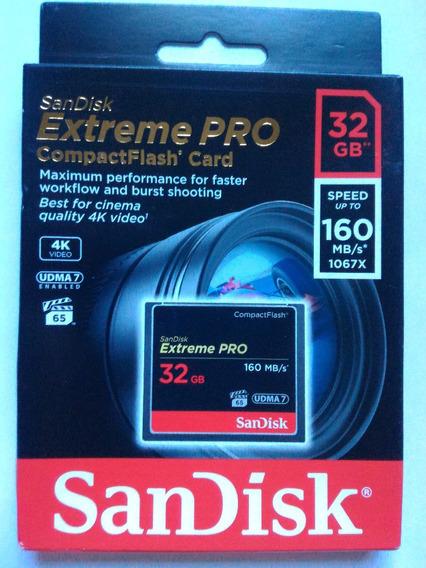 Sandisk Extreme Pro Compactflash 32gb Pronta Entrega