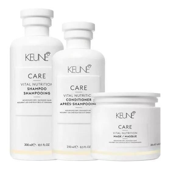 Keune Kit Vital Nutrition Sh 300ml + Cond 250ml + Masc 200g