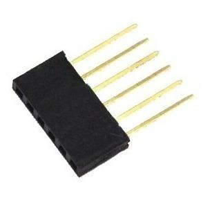 Kit 10x Barras De 6 Pinos Conector Femea Empilhável Arduino