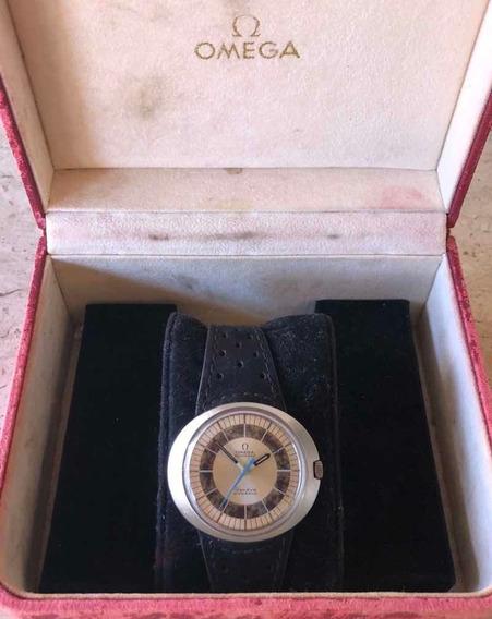Relógio Ômega Dynamic No Date Em Aço Maciço Antigo Estojo
