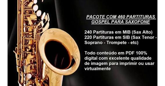 500 Partituras Sax Gospel+play Backs+40 Partituras Casamento