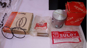 Pistão C/ Aneis 0,25 P/ Yamaha Rx Tt 125 Suloy C/ Anel Cofap