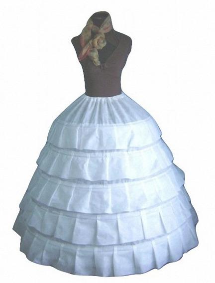Enagua, Miriñaque Con 5 Aros Armada Para Vestidos,15, Novias