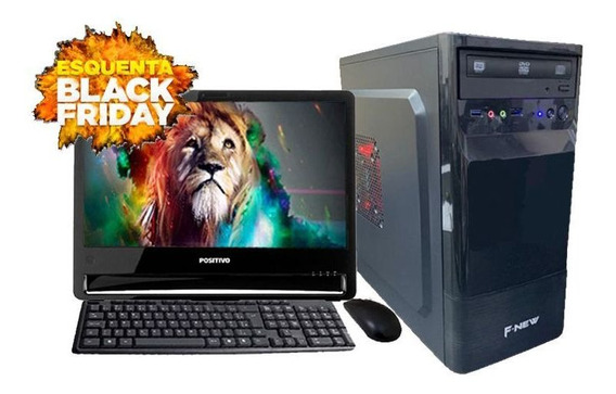 Computador Completo Intel 8gb Hd500gb + Monitor Black Friday