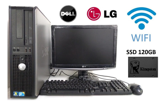 Dell Core 2 Duo 4gb Ddr3 Ssd 120gb Monitor 17 Teclado Mouse
